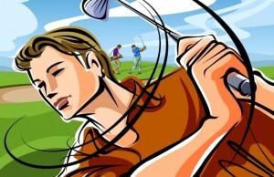 golf-klyushka-igroki-pole-udar