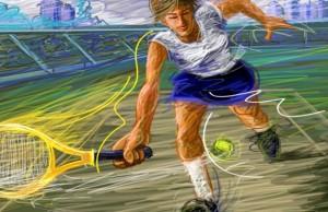 tennis-raketka-udar-myach
