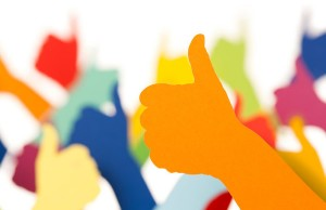 Colourful Thumbs Up Like